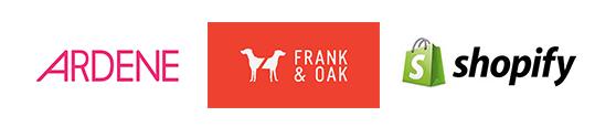 Ardene. Frank&Oak. Shopify