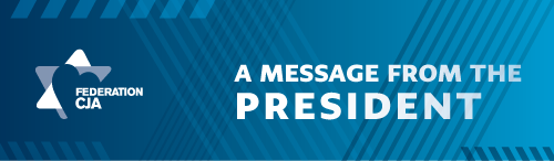 A R message from our President, Gail Adelson-Marcovitz.