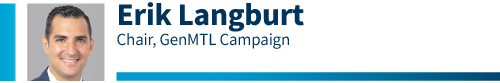 Erik Langburt, GenMTL Campaign Chair for the 2020 Combined Jewish Appeal