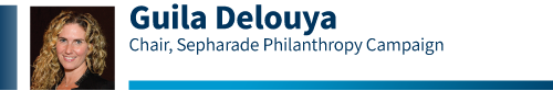 Guila Delouya,  Sepharade Philanthropy Campaign Chair for the 2020 Combined Jewish Appeal