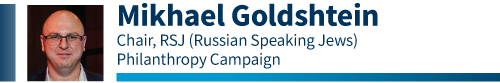 Mikhael Goldstein, Russian Philanthropy Campaign Chair for the 2020 Combined Jewish Appeal